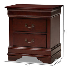 Baxton Studio Beale Classic and Contemporary Espresso Brown Finished 3-Drawer Nightstand Baxton Studio-nightstands-Minimal And Modern - 2