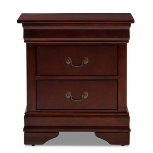 Baxton Studio Beale Classic and Contemporary Espresso Brown Finished 3-Drawer Nightstand Baxton Studio-nightstands-Minimal And Modern - 4