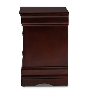 Baxton Studio Beale Classic and Contemporary Espresso Brown Finished 3-Drawer Nightstand Baxton Studio-nightstands-Minimal And Modern - 5
