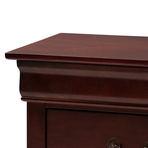 Baxton Studio Beale Classic and Contemporary Espresso Brown Finished 3-Drawer Nightstand Baxton Studio-nightstands-Minimal And Modern - 6