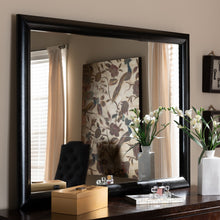 Baxton Studio Kima Modern and Contemporary Black Finished Wood Dresser Mirror
