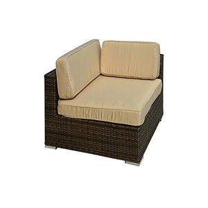 Manhattan Comfort Robinson L-Shaped Outdoor Sofa Patio Set-Minimal & Modern