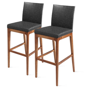 Devon Fabric Counter Stool - Set of 2 by New Pacific Direct - 4400013