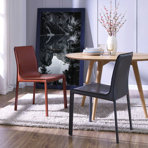Gervin Recycled Leather Chair - Set of 2 by New Pacific Direct - 448233R