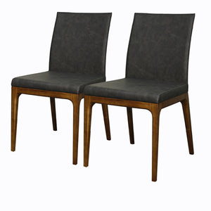 Devon PU Leather Chair - Set of 2 by New Pacific Direct - 448237P-758-W