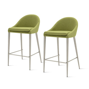 Zane Fabric Counter Stool - Set of 2 by New Pacific Direct - 448527