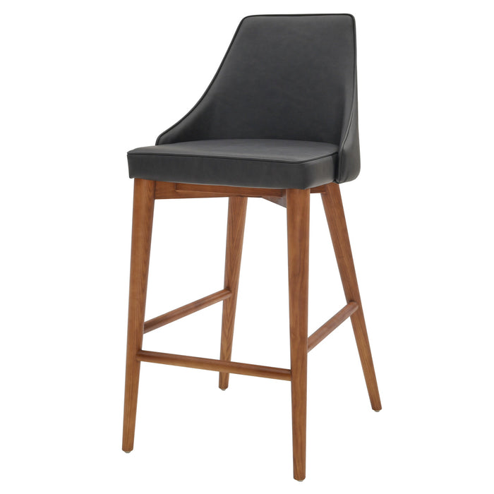 Erin PU Leather Counter Stool by New Pacific Direct - 448628P-758-W