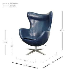 Max Swivel Rocker Chair by New Pacific Direct - 453043P