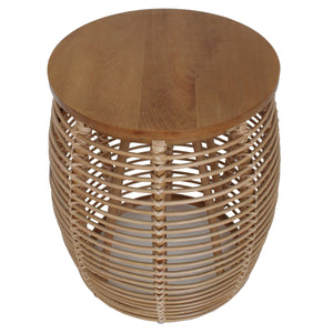 Iris Round Rattan End Table by New Pacific Direct - 4900017
