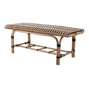 Baza Rattan Bench by New Pacific Direct - 4900039