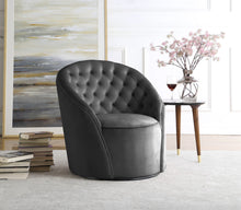 Meridian Furniture Alessio Grey Velvet Accent Chair