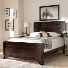 Baxton Studio Tichenor Modern and Contemporary Dark Cherry Finished Wood Queen Size Bed Baxton Studio-0-Minimal And Modern - 6