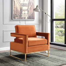 Meridian Furniture Noah Cognac Velvet Accent Chair