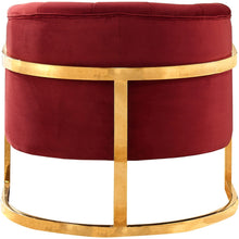 Meridian Furniture Carter Burgundy Velvet Accent Chair-Minimal & Modern
