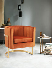 Meridian Furniture Carter Cognac Velvet Accent Chair