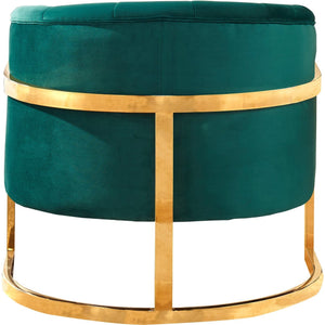 Meridian Furniture Carter Green Velvet Accent Chair-Minimal & Modern