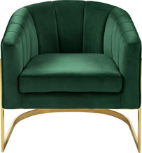 Meridian Furniture Carter Green Velvet Accent Chair