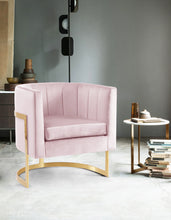 Meridian Furniture Carter Pink Velvet Accent Chair