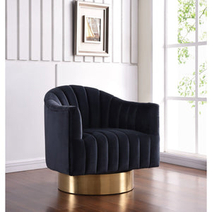 Meridian Furniture Farrah Black Velvet Accent Chair-Minimal & Modern