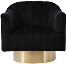 Meridian Furniture Farrah Black Velvet Accent Chair