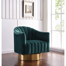 Meridian Furniture Farrah Green Velvet Accent Chair-Minimal & Modern