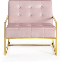 Meridian Furniture Pierre Pink Velvet Accent Chair-Minimal & Modern