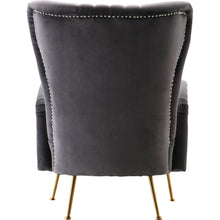 Meridian Furniture Opera Grey Velvet Accent Chair-Minimal & Modern