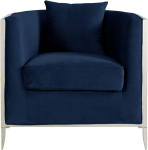 Meridian Furniture Circa Navy Velvet Accent Chair