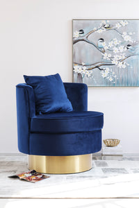 Meridian Furniture Kendra Navy Velvet Accent Chair