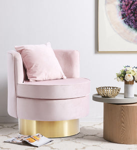 Meridian Furniture Kendra Pink Velvet Accent Chair