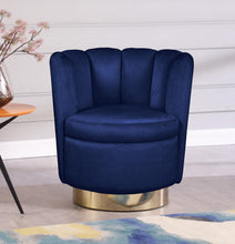 Meridian Furniture Lily Navy Velvet Accent Chair
