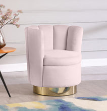 Meridian Furniture Lily Pink Velvet Accent Chair
