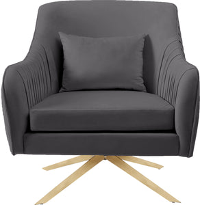 Meridian Furniture Paloma Grey Velvet Accent Chair