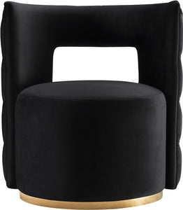 Meridian Furniture Theo Back Velvet Accent Chair