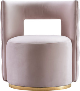 Meridian Furniture Theo Pink Velvet Accent Chair
