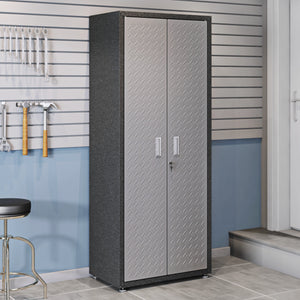 Manhattan Comfort 6-Piece Fortress Textured Garage Set with Cabinets, Wall Units and Table in Grey.,  - Manhattan Comfort - 2