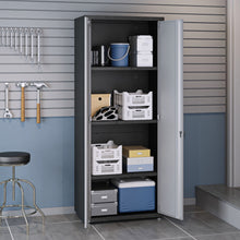 Manhattan Comfort 6-Piece Fortress Textured Garage Set with Cabinets, Wall Units and Table in Grey.,  - Manhattan Comfort - 3