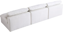 Meridian Furniture Serene Cream Linen Fabric Deluxe Cloud Modular Armless Sofa