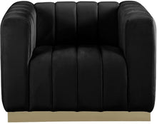 Meridian Furniture Marlon Black Velvet Chair