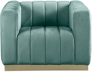 Meridian Furniture Marlon Mint Velvet Chair