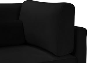 Meridian Furniture Julia Black Velvet Modular Sofa (4 Boxes)