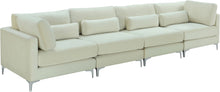 Meridian Furniture Julia Cream Velvet Modular Sofa (4 Boxes)