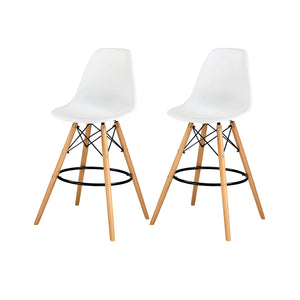 Allen Molded PP Counter Stool - Set of 2 by New Pacific Direct - 6100032-W-M