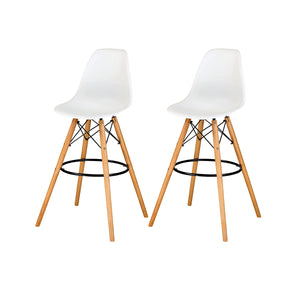 Allen Molded PP Bar Stool - Set of 2 by New Pacific Direct - 6100033-W-M