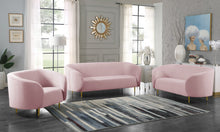 Meridian Furniture Lavilla Pink Velvet Sofa