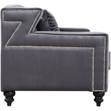 Meridian Furniture Harley Grey Velvet Loveseat-Minimal & Modern