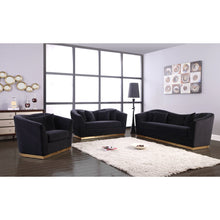 Meridian Furniture Arabella Black Velvet Sofa-Minimal & Modern