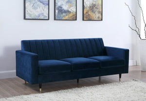 Meridian Furniture Lola Navy Velvet Sofa