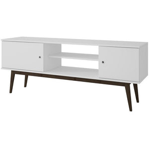 Accentuations by Manhattan Comfort Salem Splayed Leg TV Stand in White Manhattan Comfort-Entertainment Center- - 1