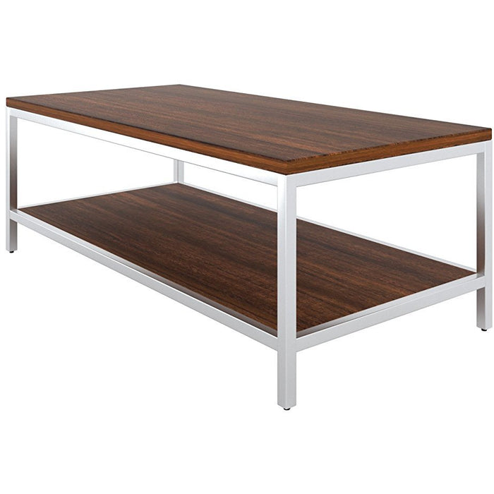 Bamboogle Koa Coffee Table With Silver Legs BKL-20-S-4924-K-Minimal & Modern